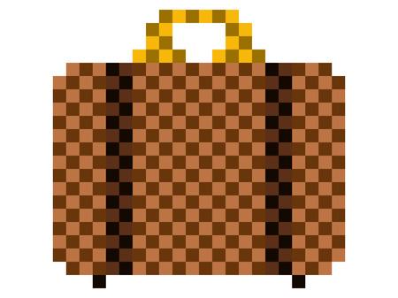 Pixelated travel bag icon
