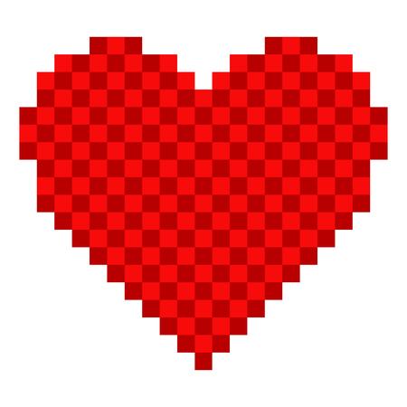 Pixelated heart shape icon