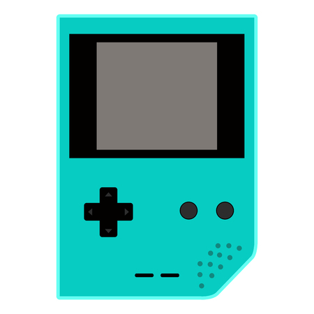 Isolated mobile videogame console icon
