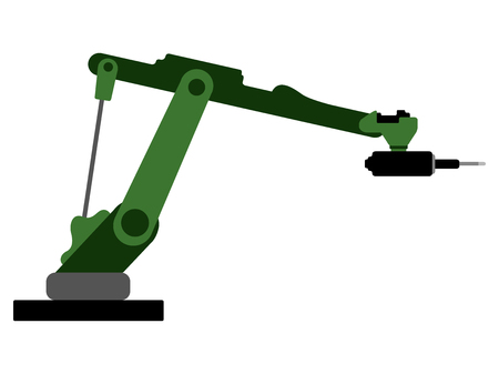 Isolated robotic arm icon. Vector illustration design