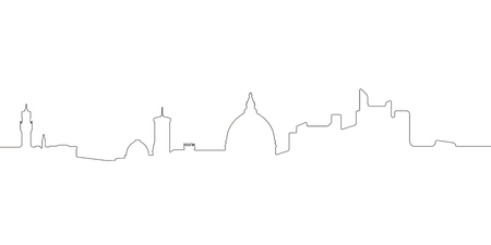 Continous line skyline of Florence. Vector illustration design Illustration