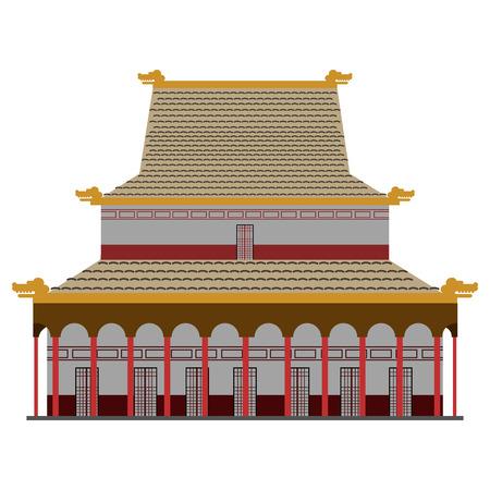 Isolated colored asian building icon. Vector illustration design Stock Illustratie
