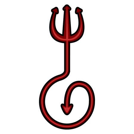Isolated halloween demon trident icon. Vector illustration design Illustration