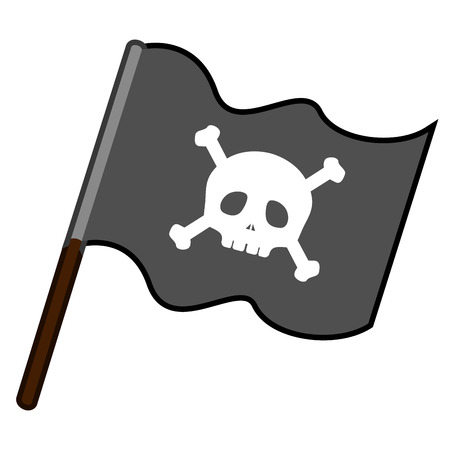 Isolated pirate flag icon. Vector illustration design