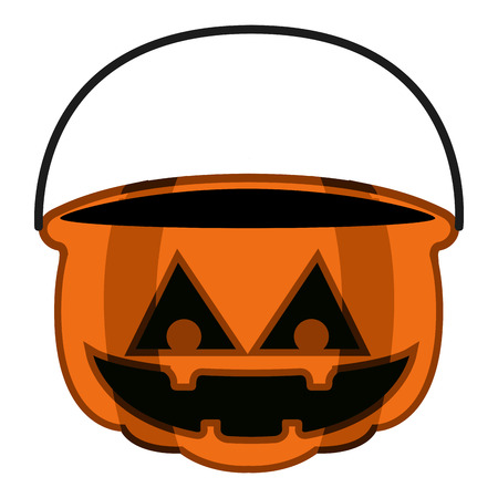 Isolated empty jack-o-lantern for candies. Vector illustration design