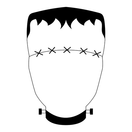 Abstract halloween monster mask. Vector illustration design