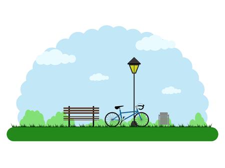 Landscape of an outdoor park. Vector illustration design Illustration