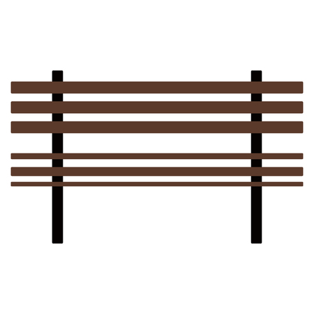 Isolated wooden bench icon. Vector illustration design