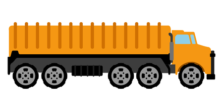 Isolated fuel truck icon. Construction vehicle. Vector illustration design