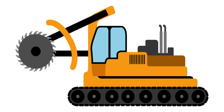 Icône de véhicule de construction isolé. Conception d'illustration vectorielle