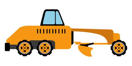 Isolated grade icon. Construction vehicle. Vector illustration design Illustration