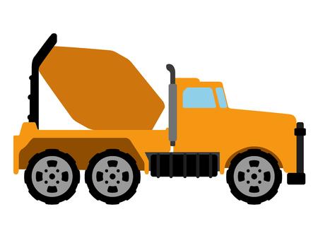 Isolated concrete mixer icon. Construction vehicle. Vector illustration design Ilustrace
