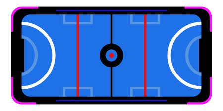 Isolated air hockey table for arcade. Vector illustration design