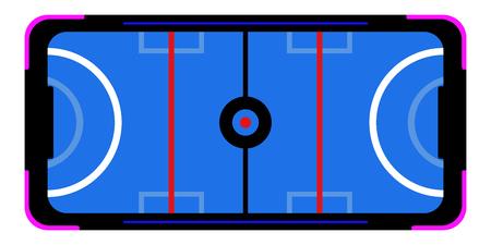 Mesa de air hockey aislada para arcade. Diseño de ilustración vectorial