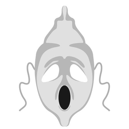 Isolated halloween ghost mask. Vector illustration design