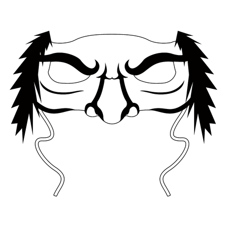 Isolated halloween witch mask. Vector illustration design