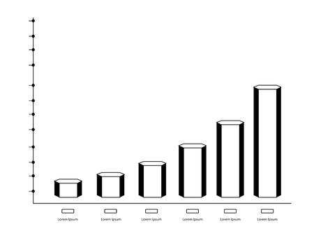 Isolated monochrome business graph. Vector illustration design