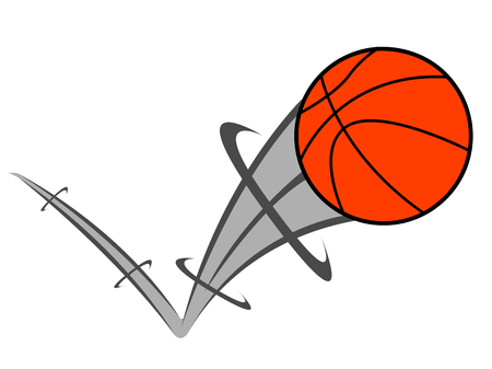 basketball ball with an effect vector illustration design