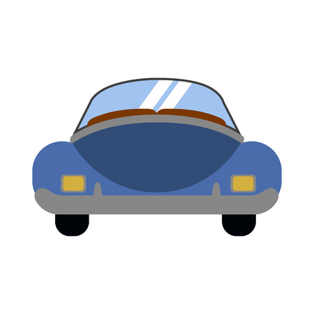 Rear view of a vintage car. Vector illustration design