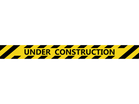 Isolated under construction tape. Vector illustration design  イラスト・ベクター素材