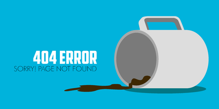 404 error website not found graphic design
