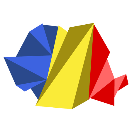 Low Poly style map of Romania. Vector illustration design Vektorové ilustrace