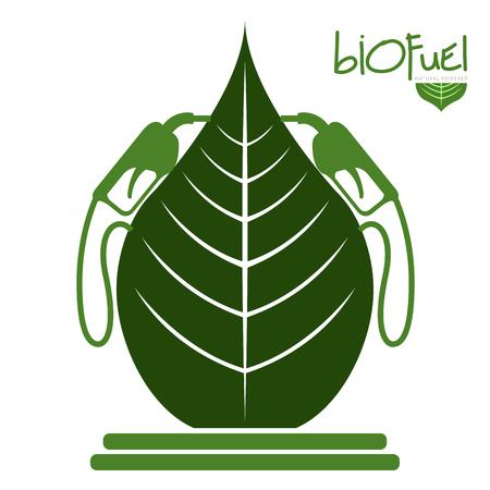 Green biofuel concept image. Vector illustration design Vector Illustration
