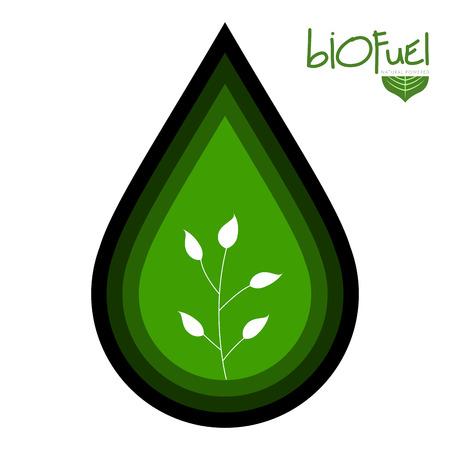 Green biofuel concept image. Vector illustration design