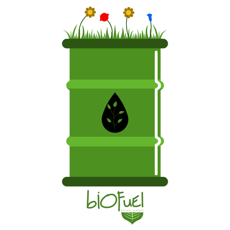 Green biofuel concept image. Vector illustration design