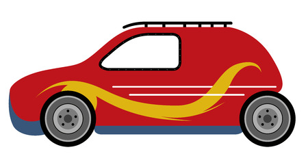 Side view of a derby car. Vector illustration design