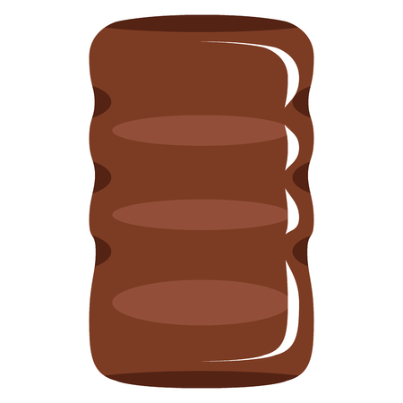Isolated chocolate marshmallow icon