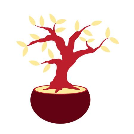 Isolated bonsai icon