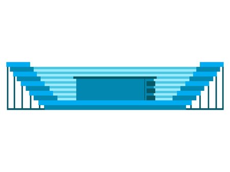 Isolated soccer stadium icon. Vector illustration design Illustration