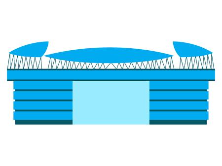 Isolated soccer stadium icon. Vector illustration design Illustration