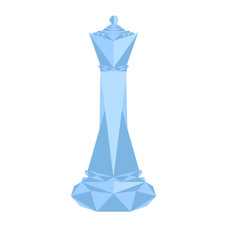 Isolated geometric queen chess piece Stock Photo
