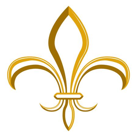 Golden fleur de lys symbol Illusztráció