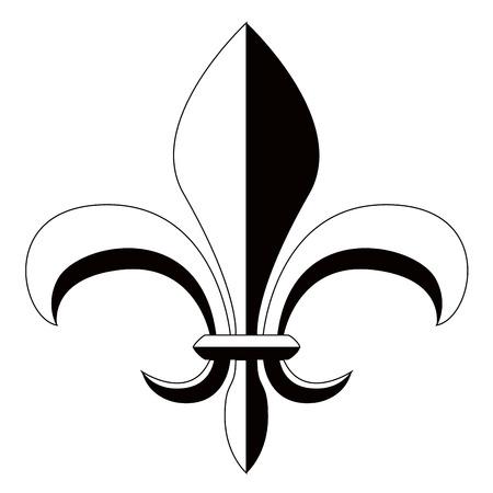 Fleur de lys symbol Иллюстрация