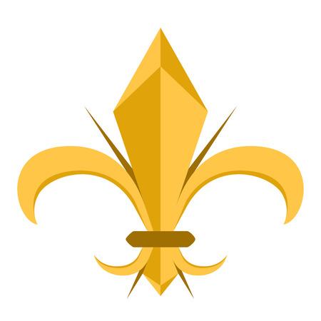 Golden fleur de lys symbol Stock Vector - 112510617