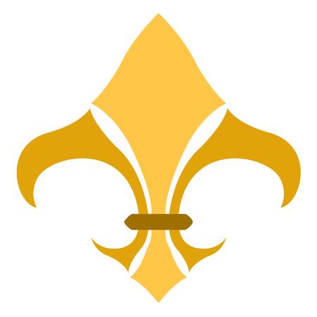 Golden fleur de lys symbol Stock Vector - 112510628