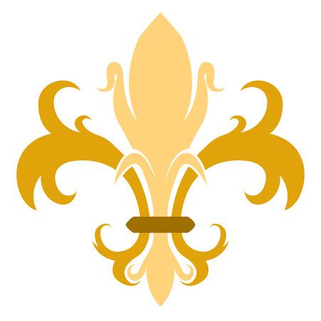 Golden fleur de lys symbol Stock Vector - 112510632