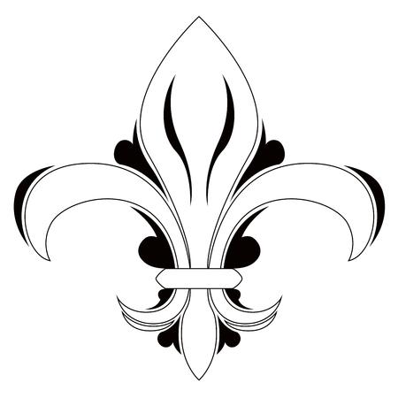 Fleur de lys symbol Illustration