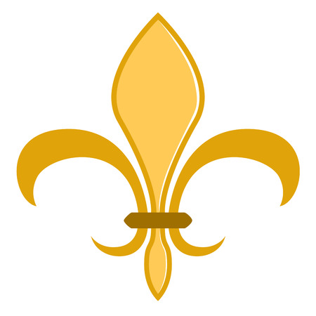 Golden fleur de lys symbol Illustration