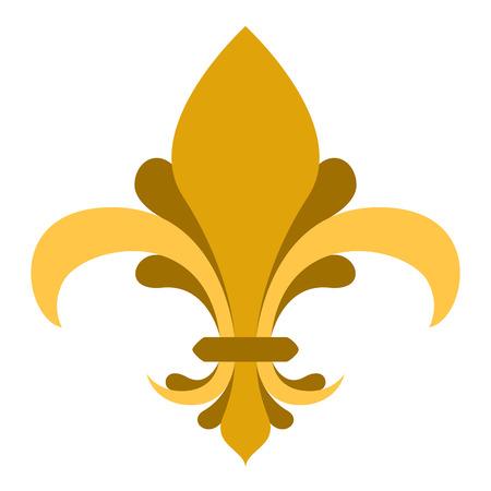 Golden fleur de lys symbol Stock Vector - 112510653