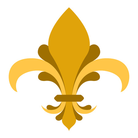 Golden fleur de lys symbol Illustration