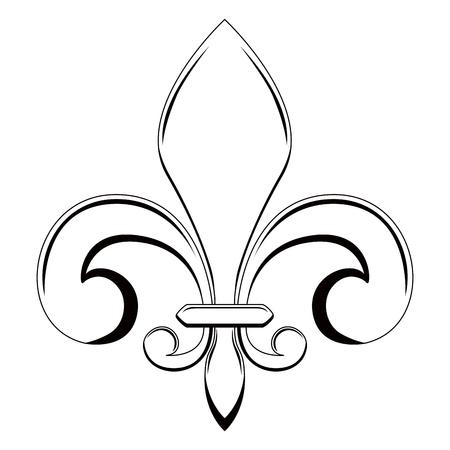Fleur de lys symbol Illusztráció