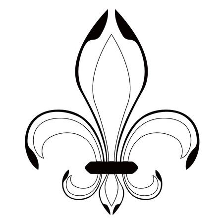 Fleur de lys symbol. Vector illustration design Illusztráció