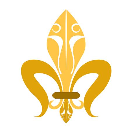 Golden fleur de lys symbol Stock Photo