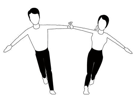 Isolated happy couple. Valentine day. Vector illustration design