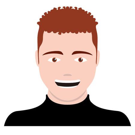 Isolated self avatar of a man. Vector illustration design