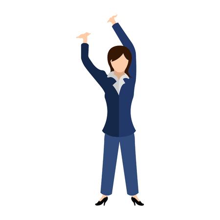 Isolated young businesswoman image. Vector illustrtation design Illustration
